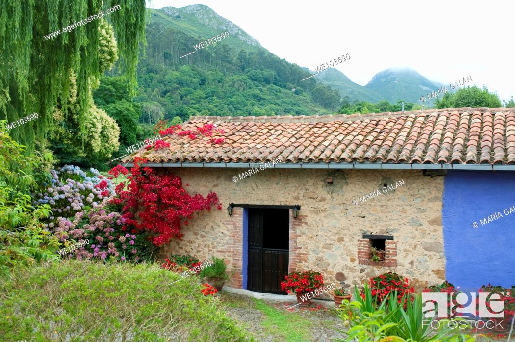 Stock Photo: Rural house. Asturias province, Spain.