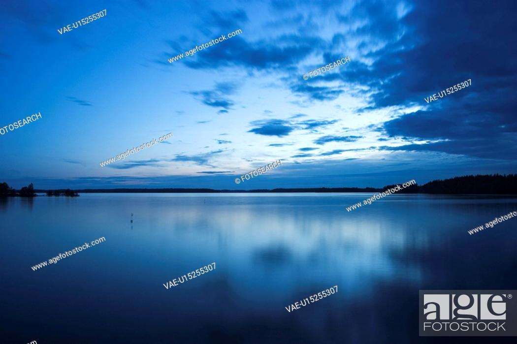 Stock Photo: Blue Sky, Clouds, Day, Lake.