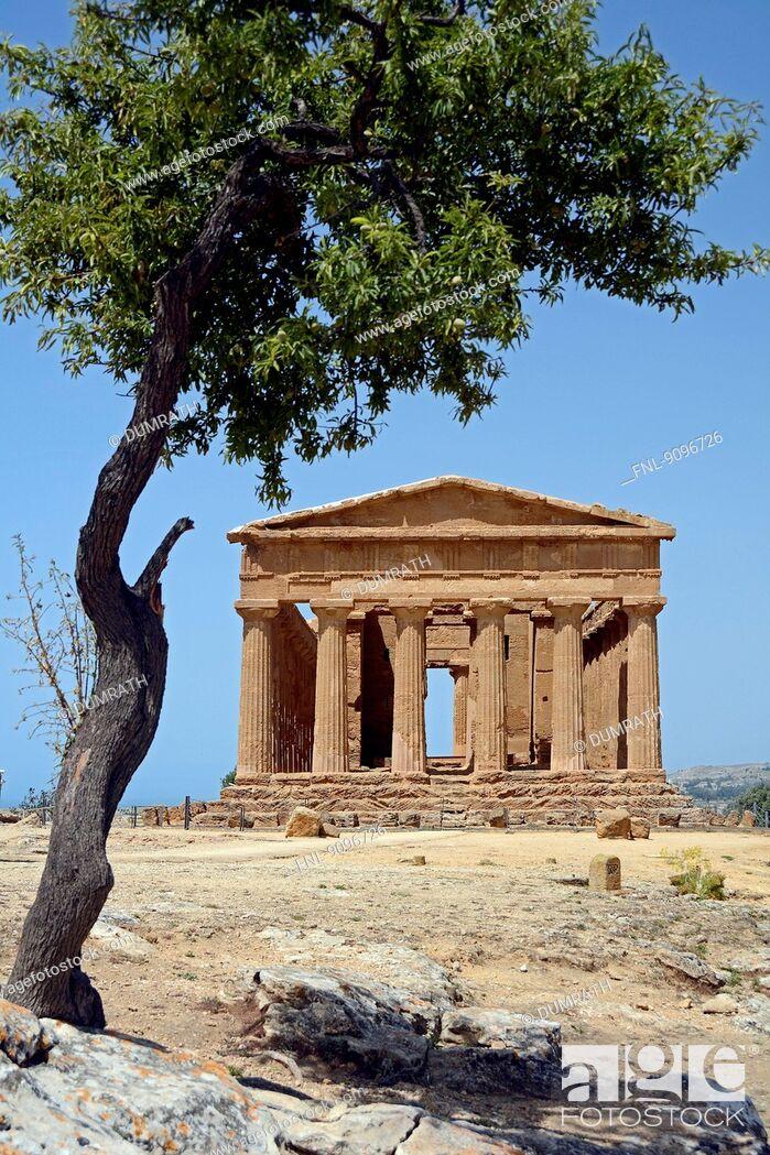Stock Photo: Concordia temple, Agrigent, Sicily, Italy, Europe.
