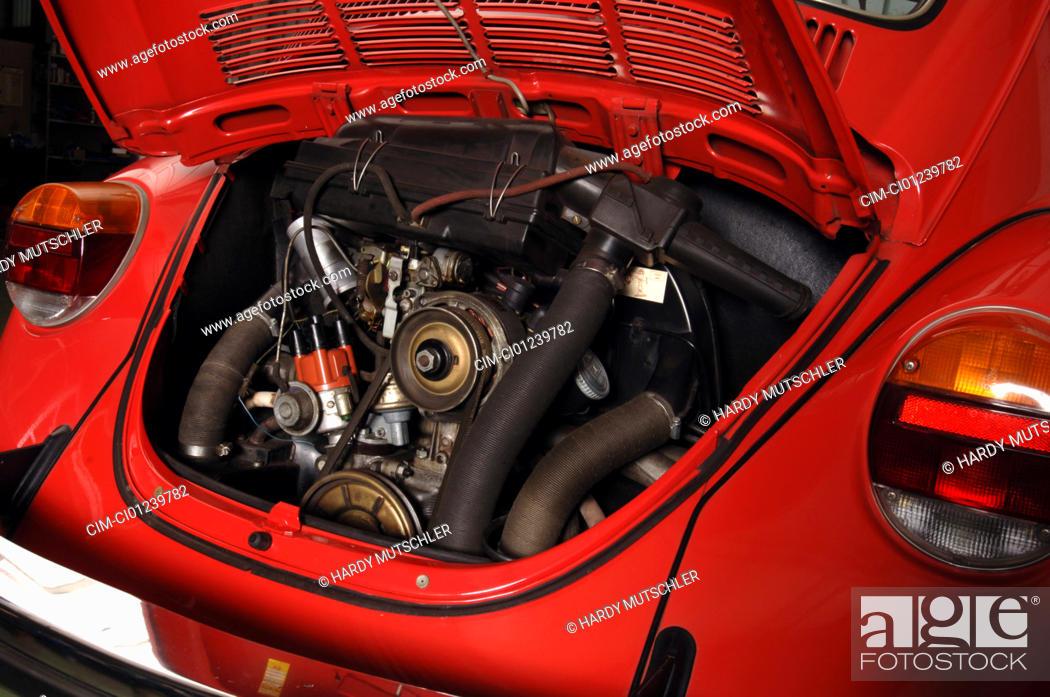 Car, VW, Volkswagen, beetle 1303, model year 1972-1975, red, old car ...