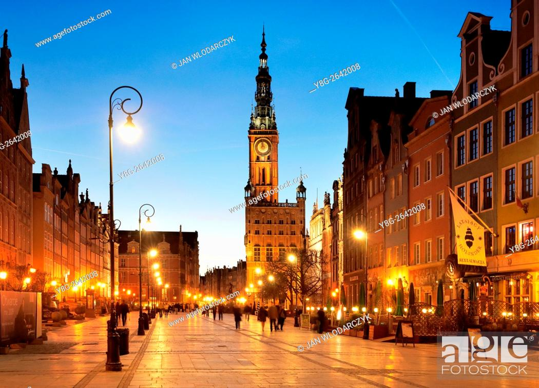 Stock Photo: Long Street, Old Town in Gdansk, Poland.