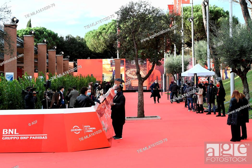 Stock Photo: Director Steve McQueen attends the red carpet of Steve McQueen during the 15th Rome Film Festival on October 16, 2020 in Rome, Italy.