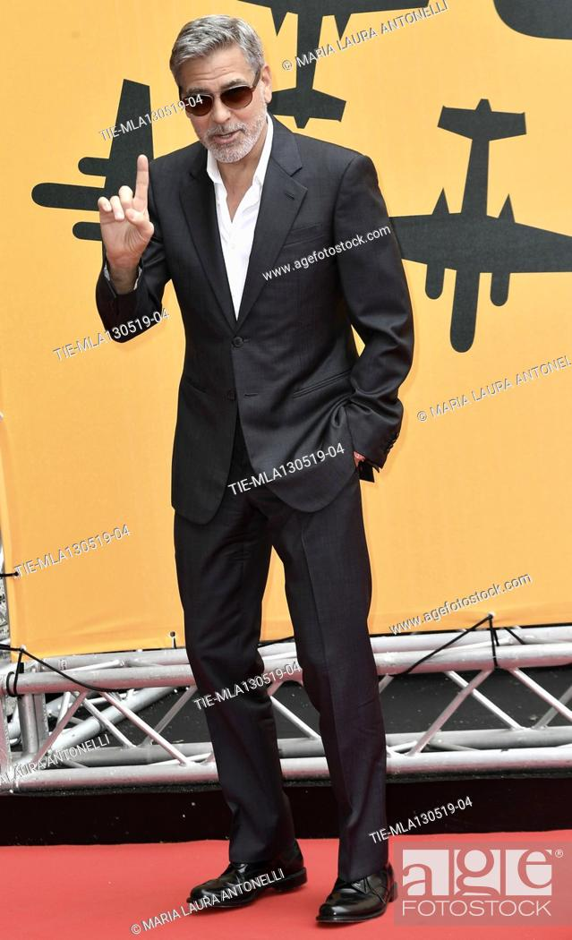 Photo de stock: George Clooney during the photocall of fillm tv Catch-22, Rome, ITALY-13-05-2019.