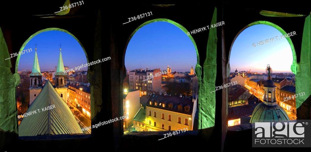 Stock Photo: Poland, Krakow, cityline.
