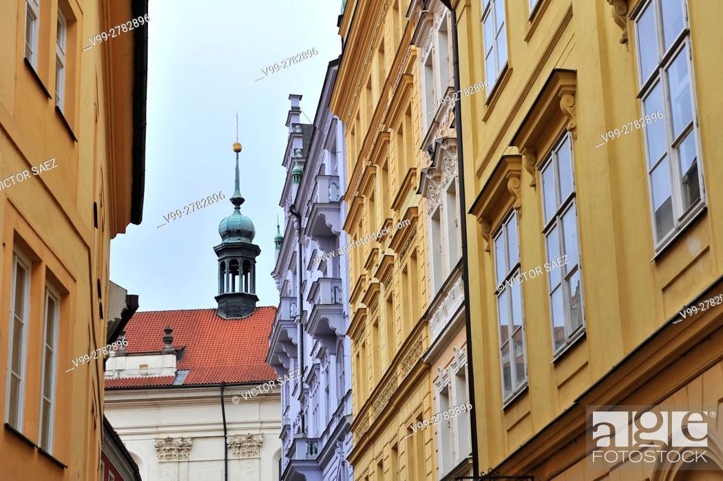 Stock Photo: Prague street.