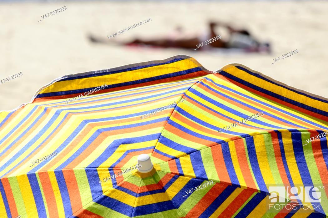 Stock Photo: Beach of Ezaro, A Coruña, Galicia, Spain.