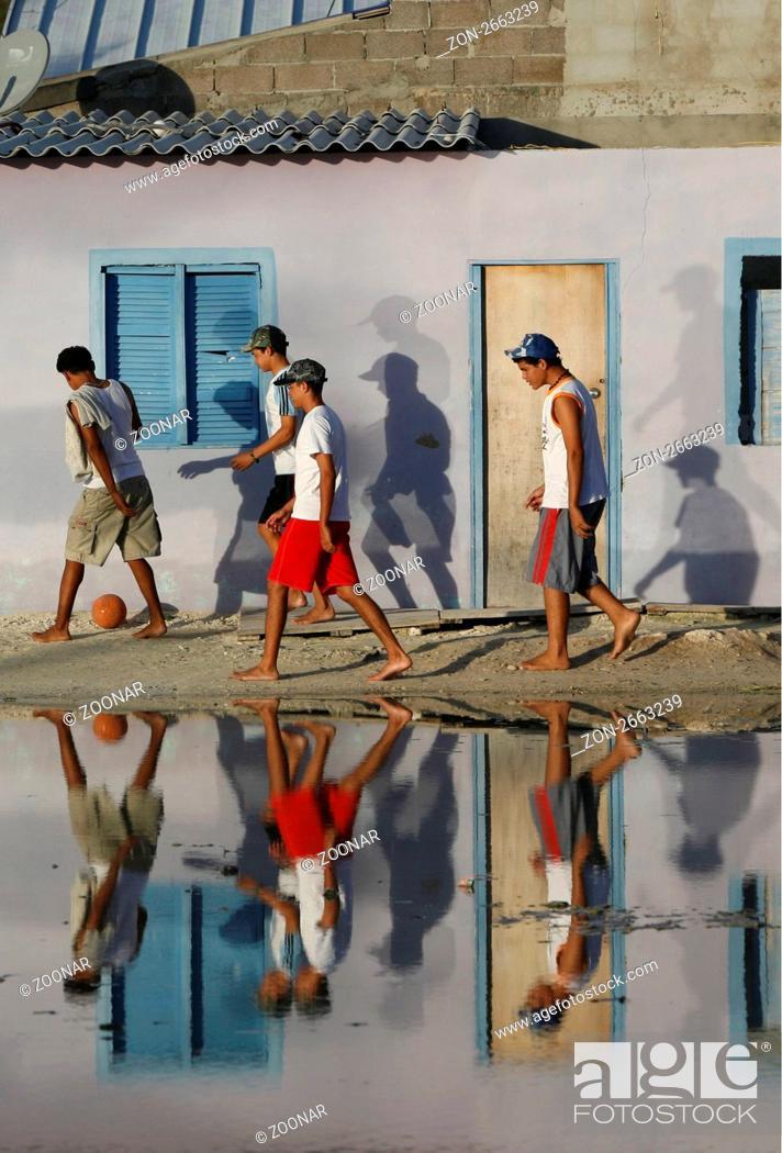 Suedamerika Karibik Venezuela Los Roques Insel Dorf