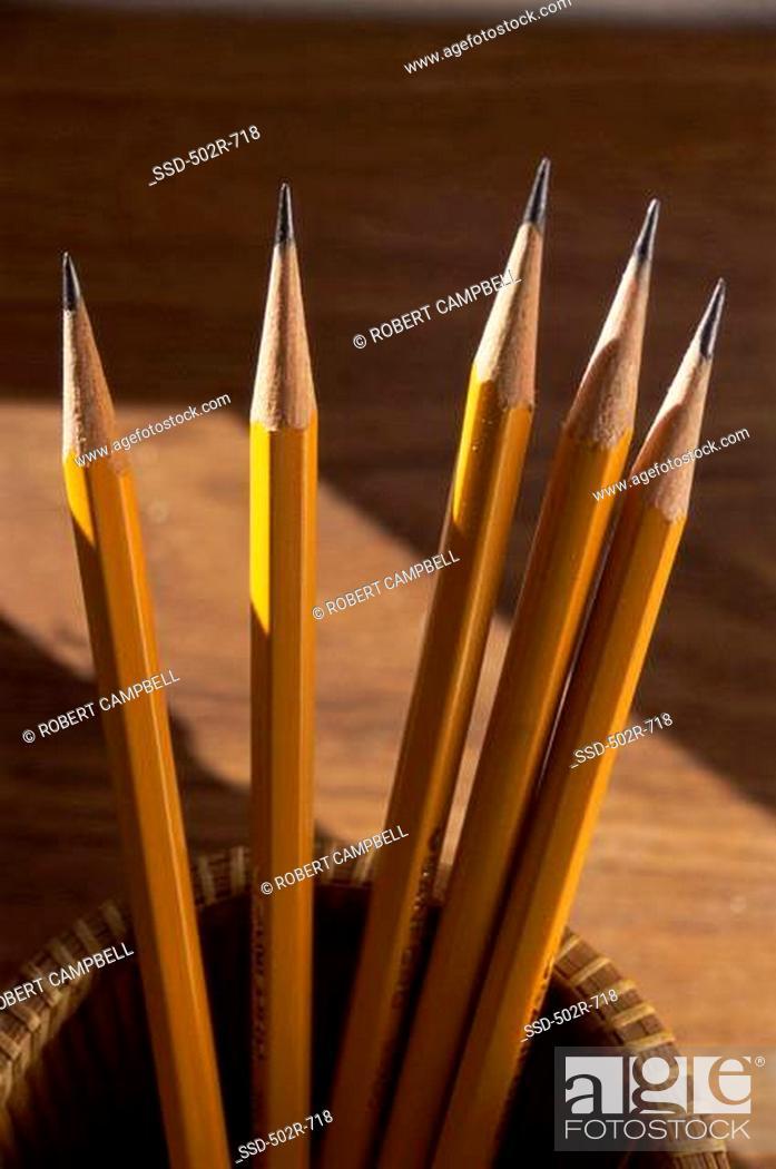 Stock Photo: Close-up of pencils.