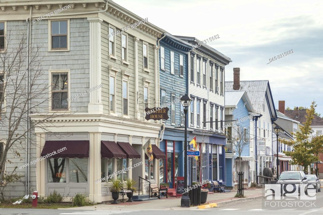 Imagen: Canada, New Brunswick, Bay of Fundy, St. Andrews By The Sea, downtown buildings.