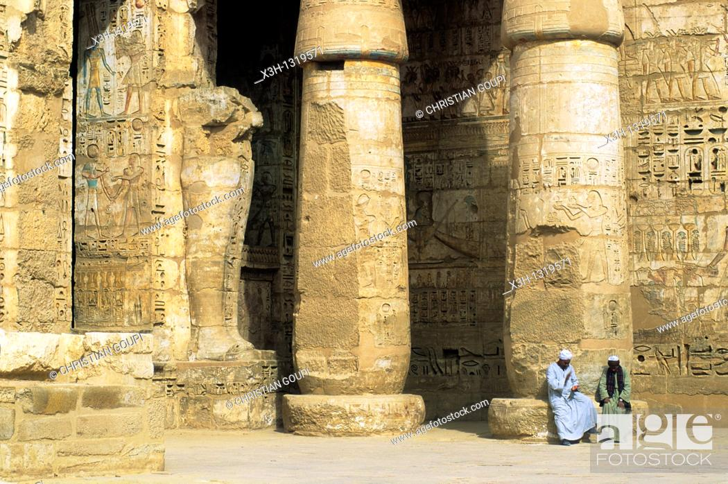Stock Photo: Temple of Ramesses III called Medinet Habu Temple, Thebes, Egypt, Africa.