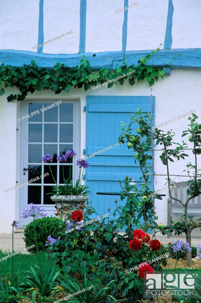Stock Photo: House, Arcangues, Basque Country.