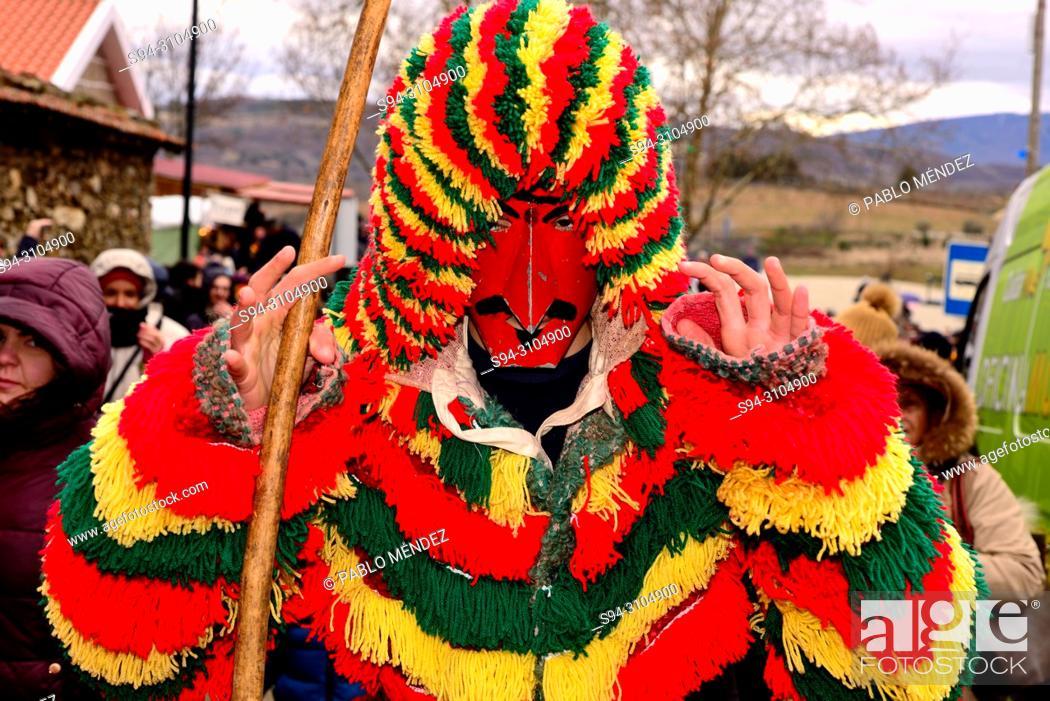 "Stock Photo: Mask of Careto """"Traditional carnival mask"""" of Podence, Macedo de Cavaleiros, Portugal."