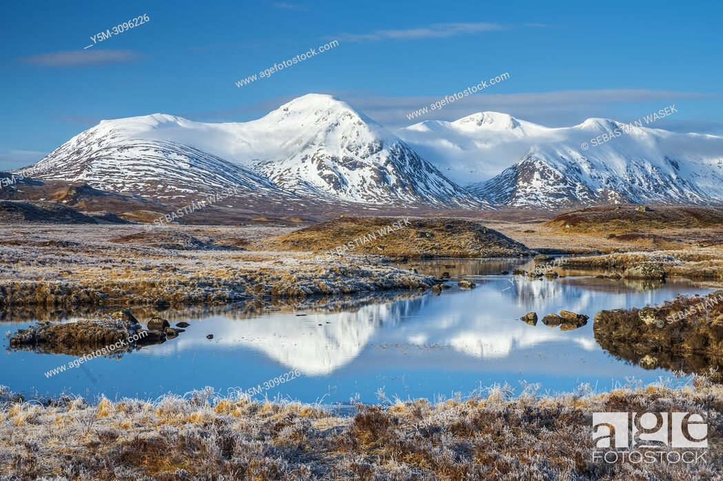 Stock Photo: Rannoch Moor, Argyll and Bute, Scotland, United Kingdom, Europe.