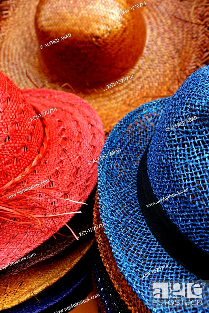 Stock Photo: Colored fedoras.