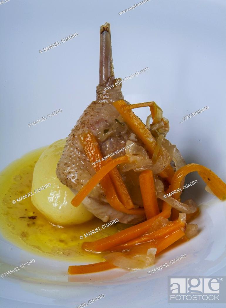 Stock Photo: Galician cuisine: Pata de ave (Bird leg).