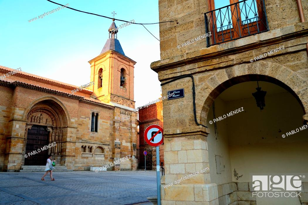 Stock Photo: Church of San Juan del Mercado in Benavente, Zamora, Spain.