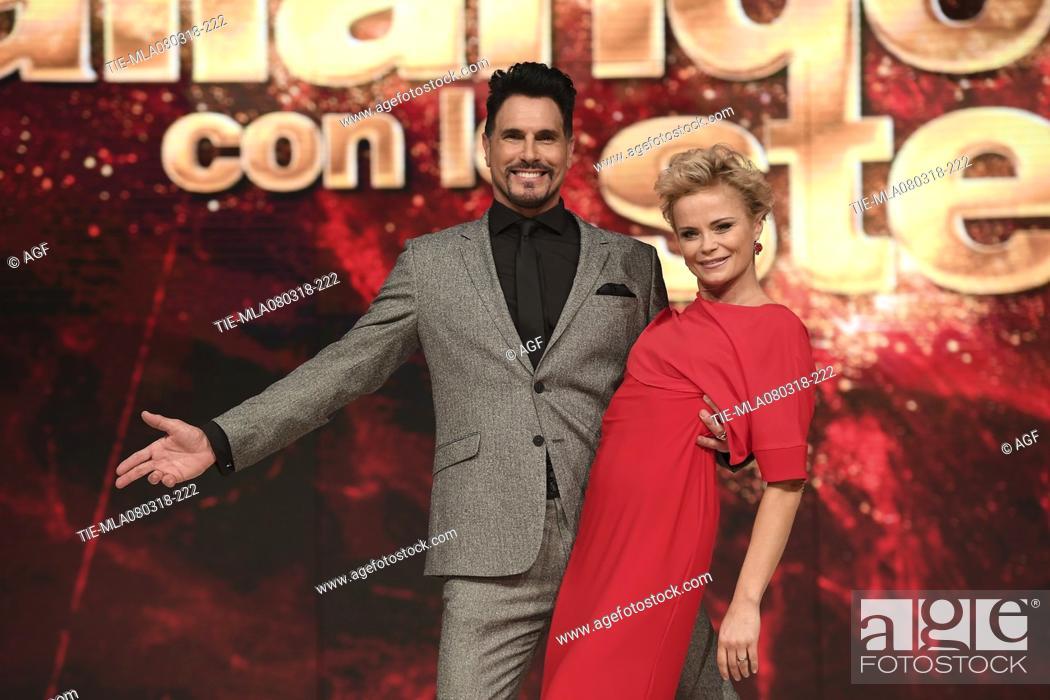 Don Diamont Hanna Karttunen During Dancing With The Stars Tv Show