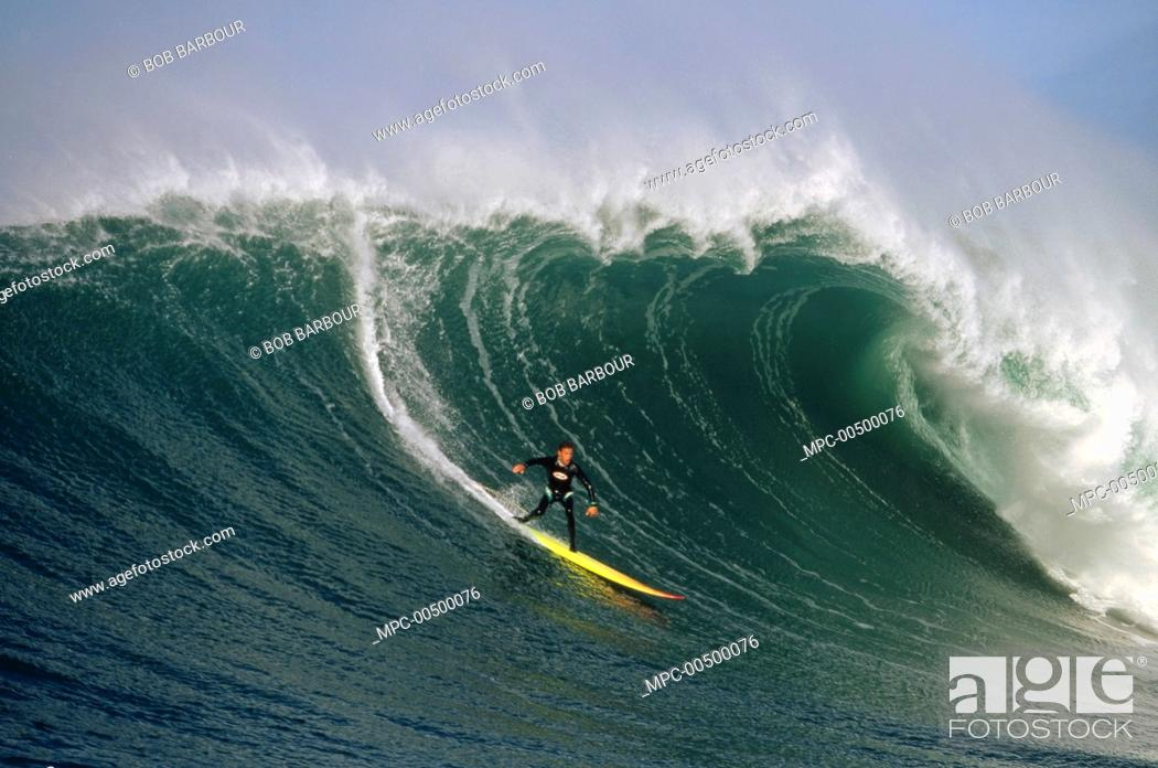 Darryl Virostko, Mavericks, Half Moon Bay, California, Stock