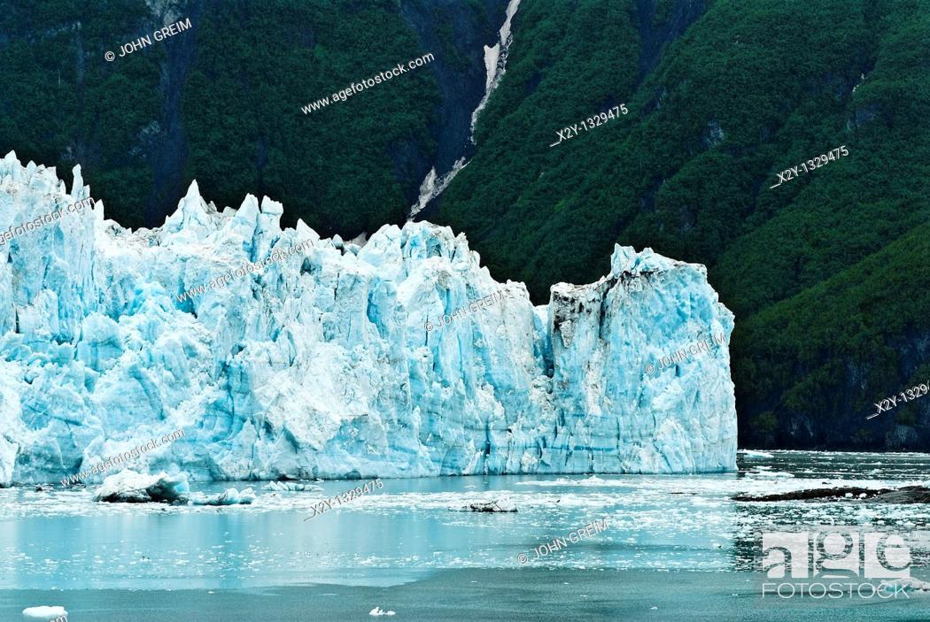 Stock Photo: Hubbard Glacier, Disenchantment Bay, AK, Alaska.