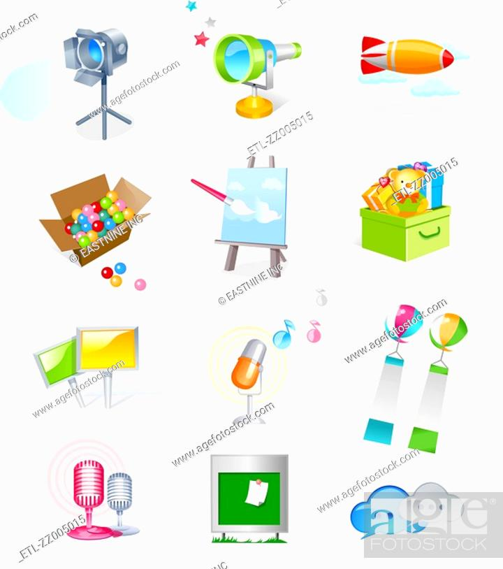 Stock Photo: Various objects.