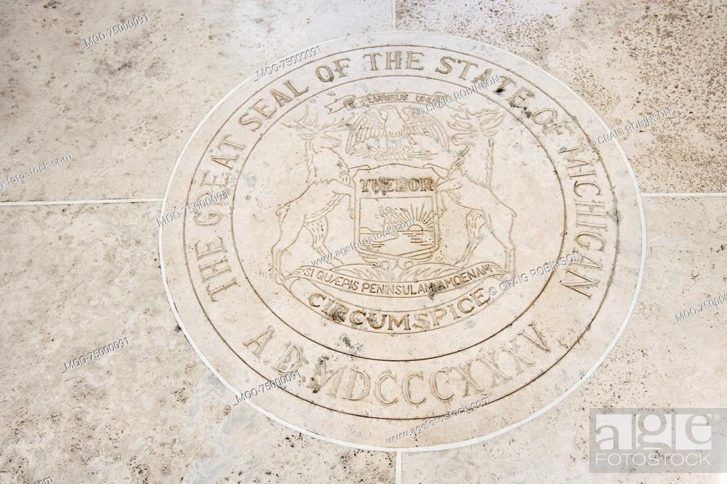 Stock Photo: Seal of Michigan in Fort Bonifacio, Manila, Philippines.
