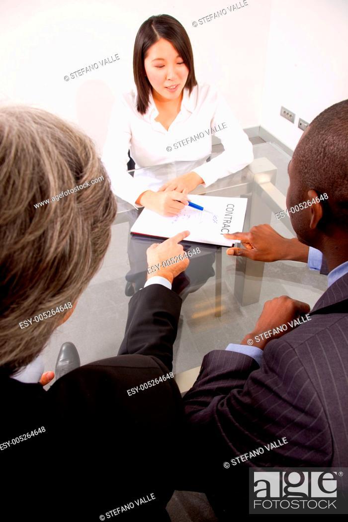Stock Photo: working meeting.