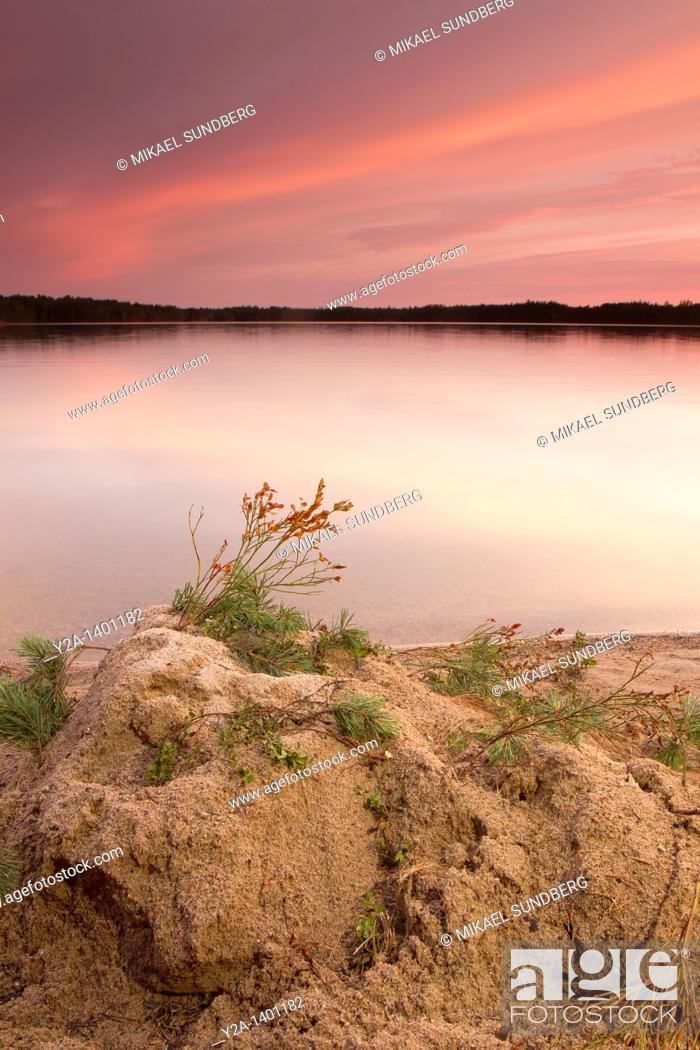 Stock Photo: Tiveden national park sea 2, Sweden.