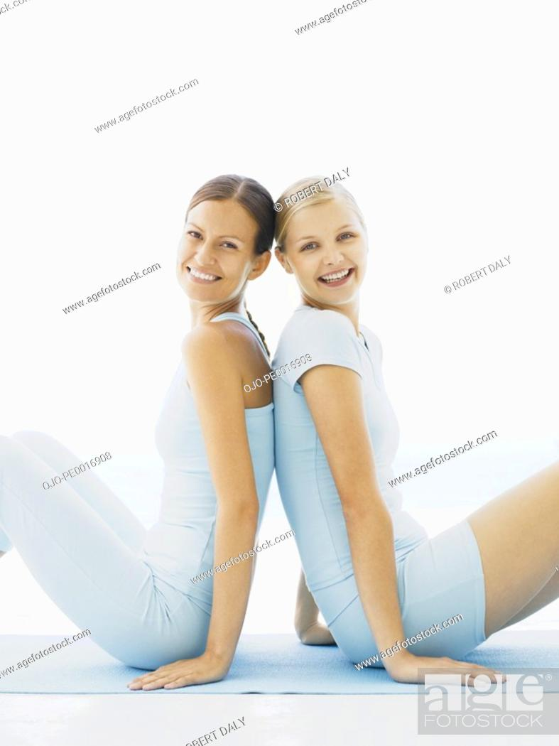 Stock Photo: Two women outdoors.