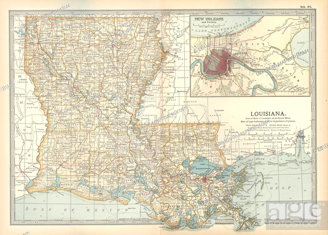 Map of Louisiana, United States, with inset map of New ... Inset Map Of United States on light map of united states, insect map of united states, lake map of united states, framed map of united states, train map of united states, flat map of united states, raised map of united states, scale map of united states, insert map of united states, resources map of united states, solid map of united states,