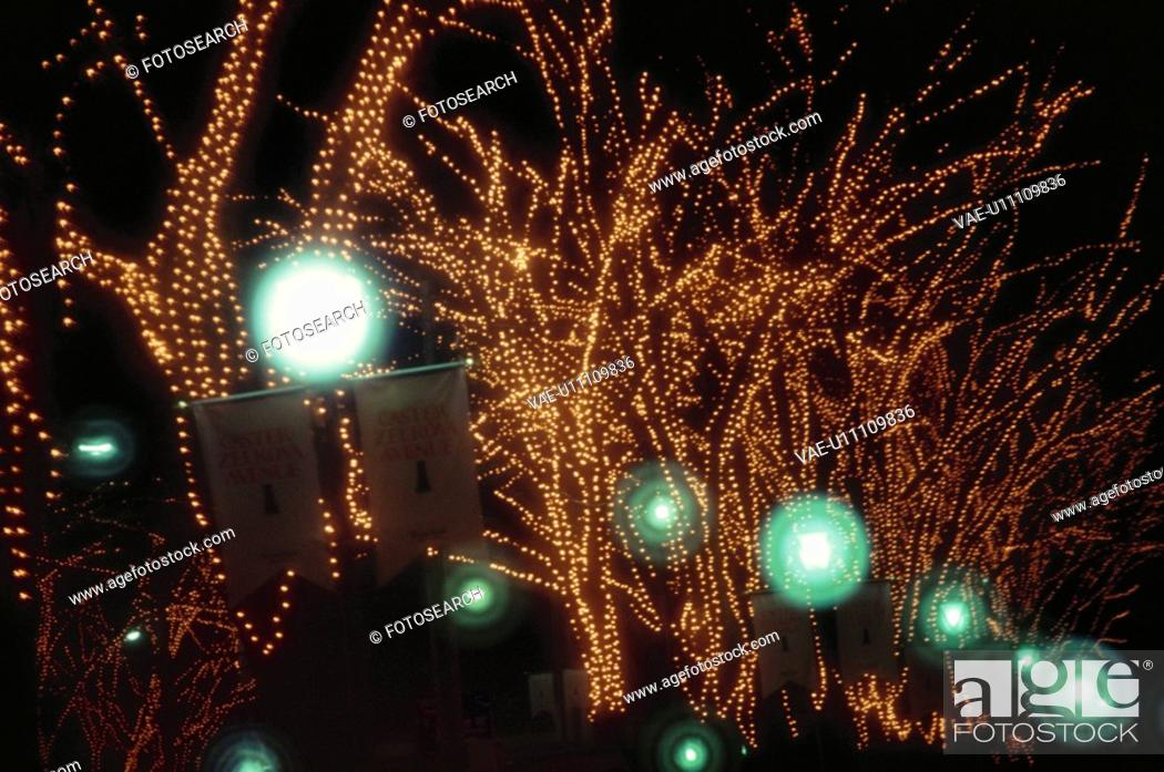 Stock Photo: Christmas Illuminations.