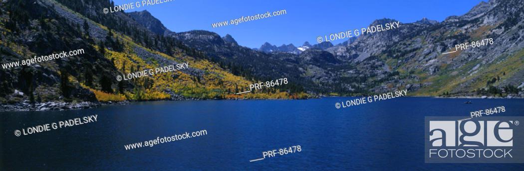 Stock Photo: Lake Sabrina Eastern Sierra Mountains CA.