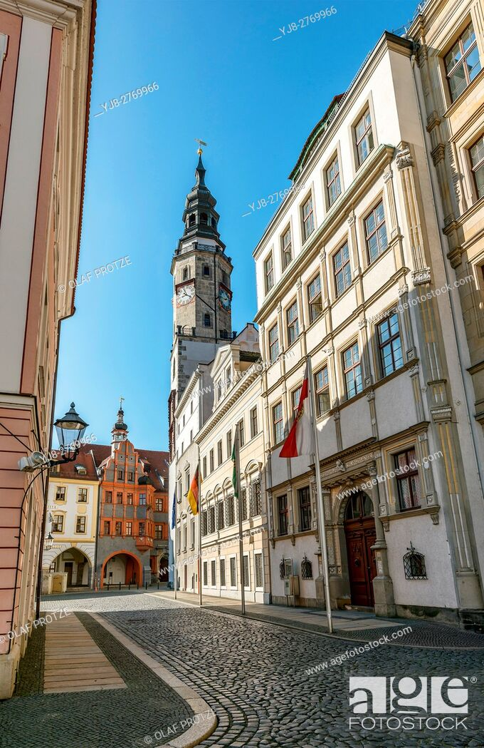 Stock Photo: Town Hall of Goerlitz, Saxony, Germany.