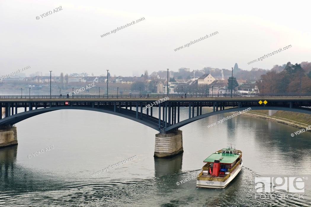 Stock Photo: Rhein river, Basel, Switzerland.
