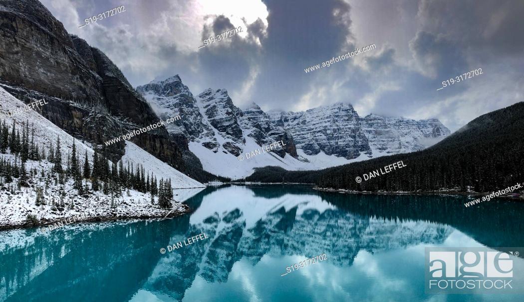 Stock Photo: Canadian Rockies. Moraine Lake.