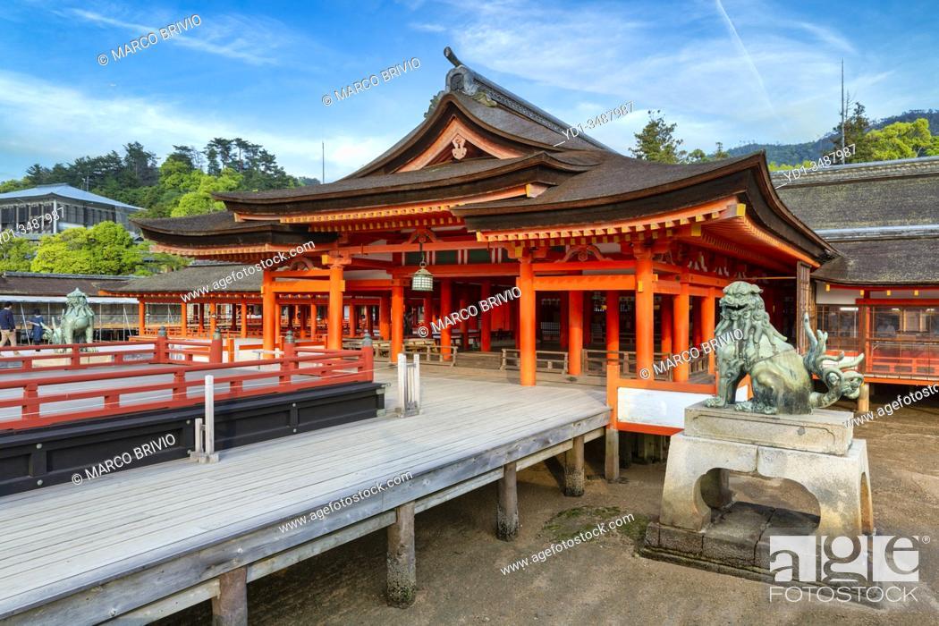 Stock Photo: Itsukushima Miyajima Japan. Itsukushima Shrine.