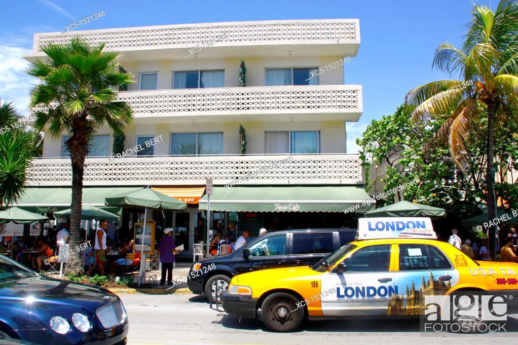 Stock Photo: Art-deco district, Miami Beach, Miami, Florida, United States.