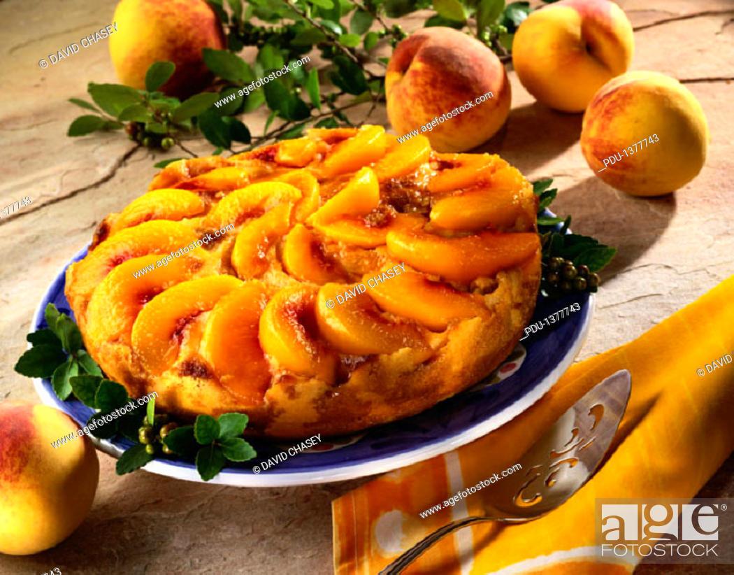 Stock Photo: Peach Tart.