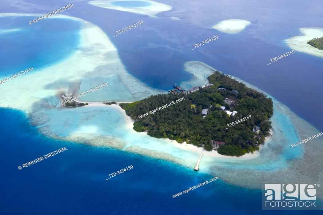 Stock Photo: Vacation Island Villivaru, South Male Atoll, Indian Ocean, Maldives.