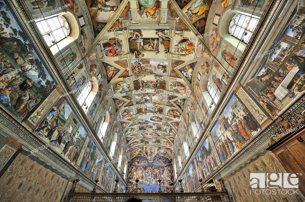 Imagen: Ceiling paintings in the Sistine Chapel, Vatican, Rome, Italy.