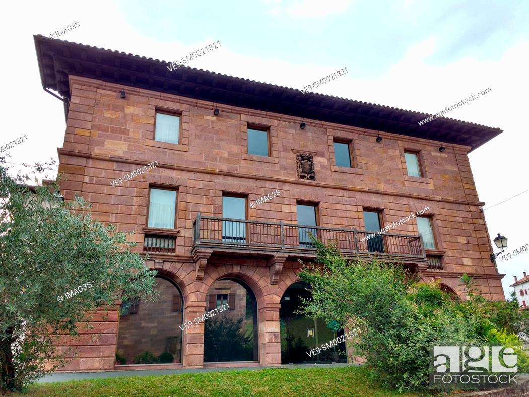 Stock Photo: Borda palace, Amaiur, Baztán valley. Navarre. Spain.