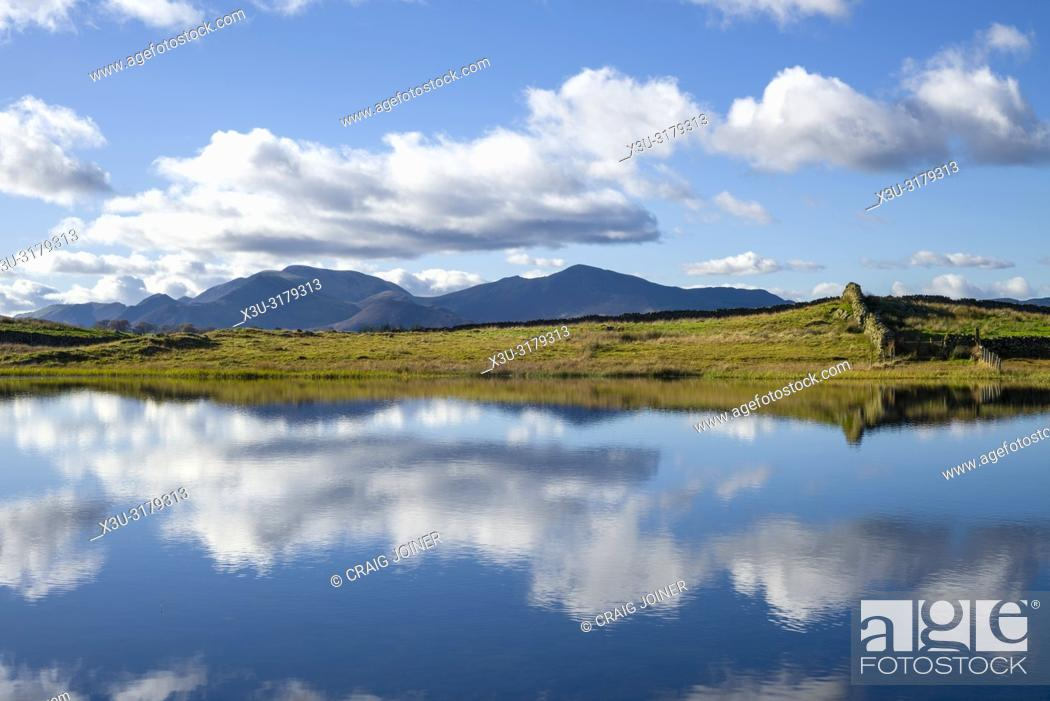 Stock Photo: Tewet Tarn in the English Lake District National Park, Cumbria, England.