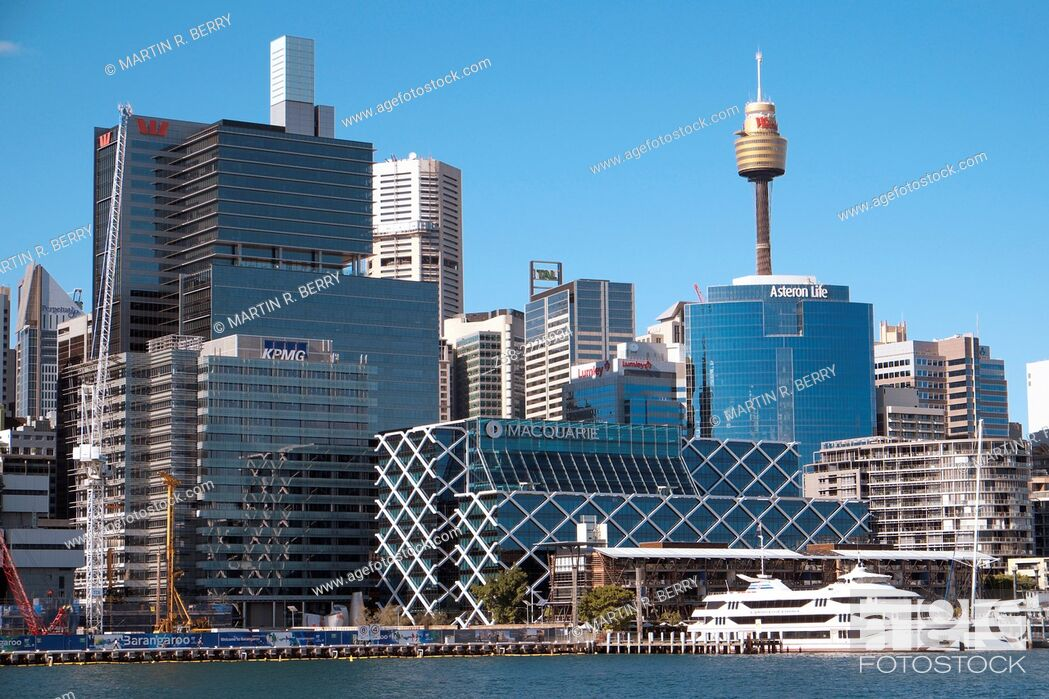 Stock Photo: Darling Harbor and Sydney Central Business District.