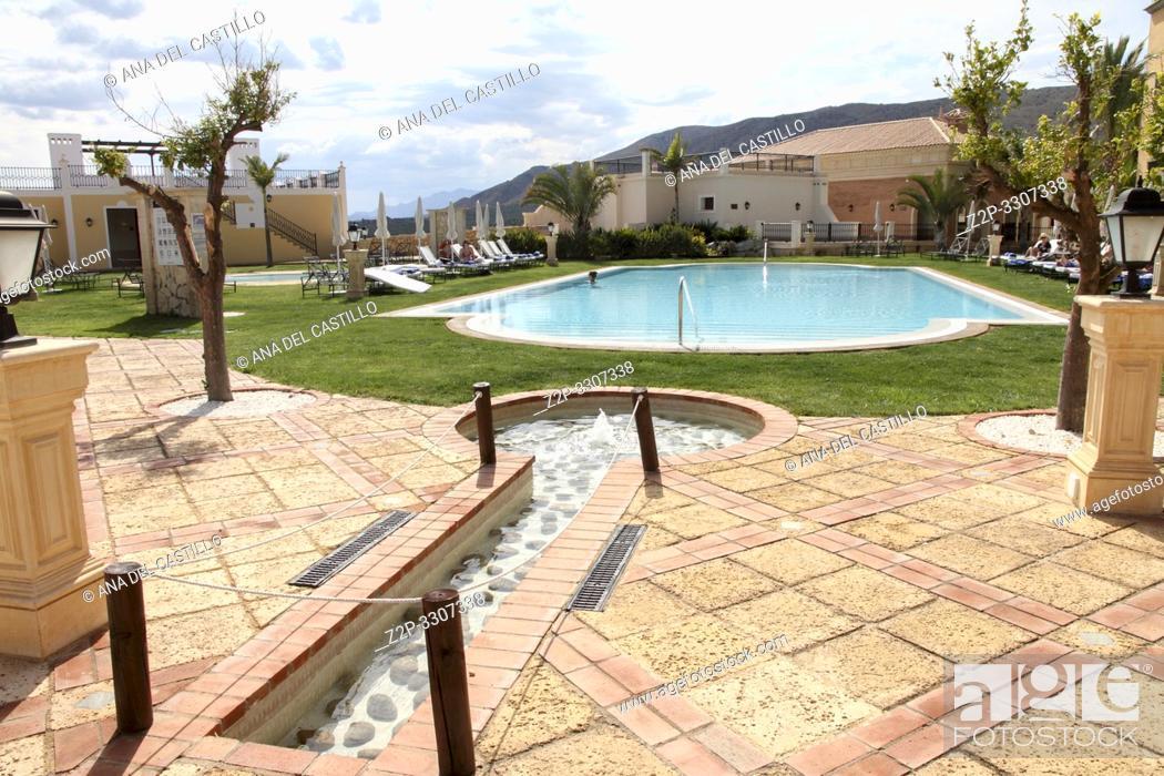 Stock Photo: Mediterranean architecture, Benidorm Spain.
