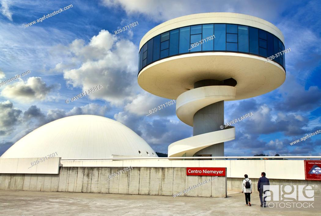 Stock Photo: Oscar Niemeyer International Cultural Centre, Avilés, Asturias, Spain, Europe.