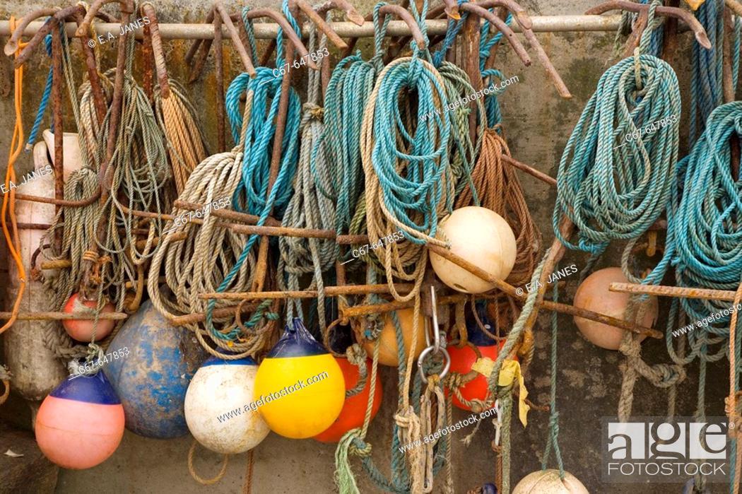 Stock Photo: Ropes, Anchors, Buoys.