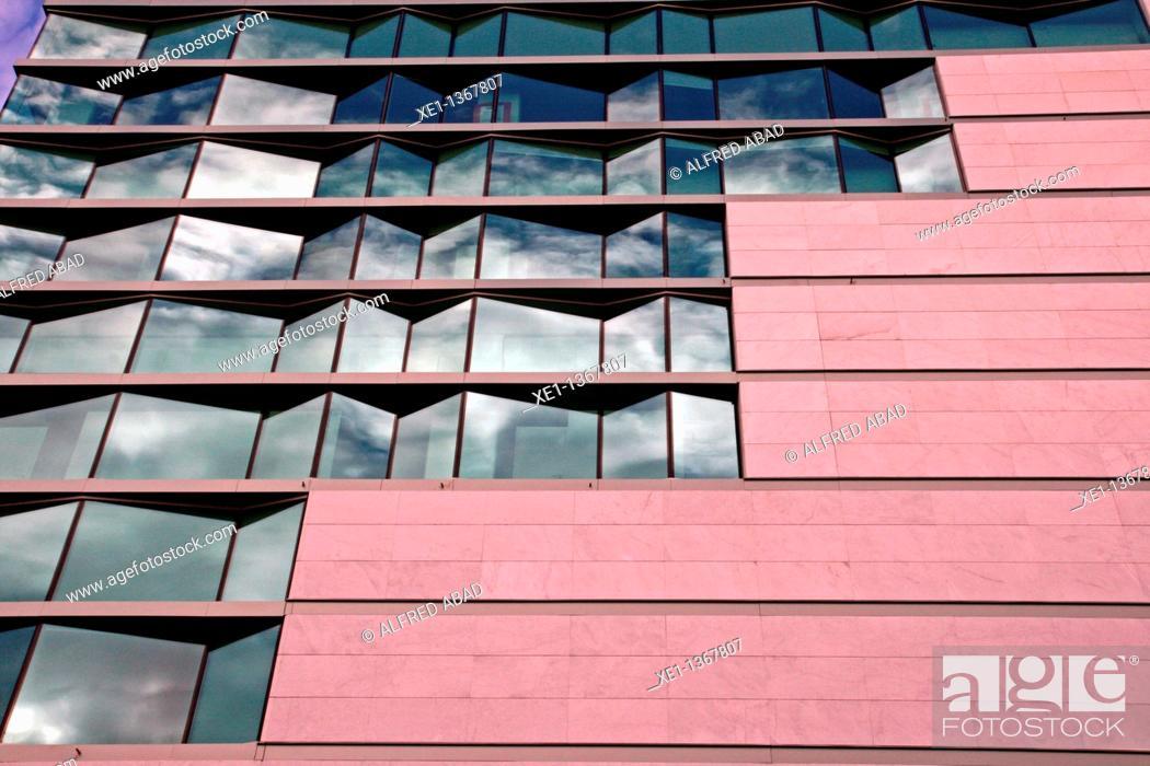 Stock Photo: glass, El Corte Ingles, Tarragona, Catalonia, Spain.