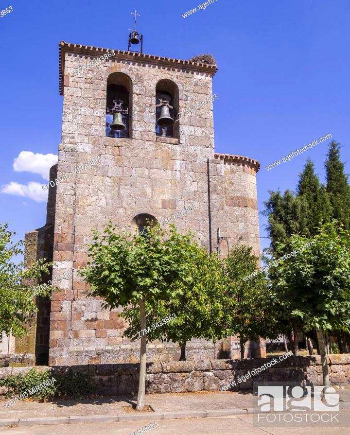 Stock Photo: Iglesia de Hortigüela. Burgos. Castilla León. España.