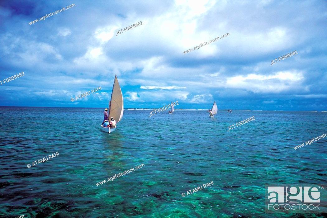 Stock Photo: Mauritius, Rodrigues, fishing boats.