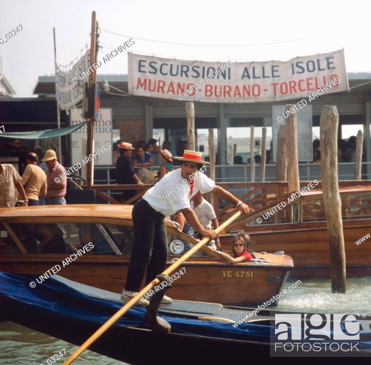 Imagen: Reise nach Venedig, Italien 1980er Jahre. Journey to Venice, Italy 1980s.