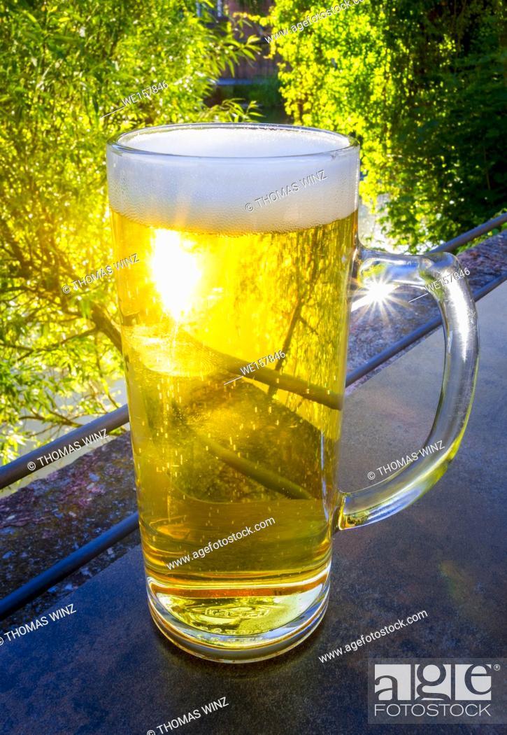 Stock Photo: Pint of refreshing beer , Germany.